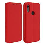 Avizar Etui folio Rouge pour Honor 8A , Huawei Y6 2019 , Huawei Y6S , Honor 8A 2020