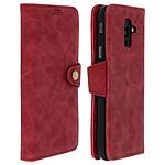Avizar Etui folio Rouge Éco-cuir pour Samsung Galaxy A6 Plus