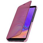 Avizar Etui folio Rose Design Miroir pour Samsung Galaxy A7 2018