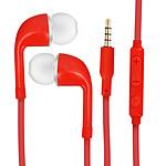 Avizar Ecouteurs Rouge pour Tous les appareils munis d'un port Jack 3.5 mm