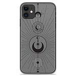 1001 Coques Coque silicone gel Apple iPhone 11 motif Cercles de Lune
