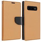 Avizar Etui folio Dorée Fancy Style pour Samsung Galaxy S10