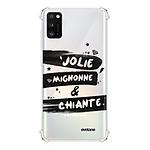 EVETANE Coque Samsung Galaxy A41 anti-choc souple avec angles renforcés transparente Jolie Mignonne et chiante