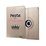 EVETANE Etui iPad Air 2 rigide or Peste mais Princesse