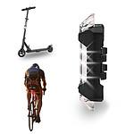 Lampe rechargeable USB blanche pour trottinette, vélo, deux roues ME101B
