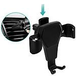 Avizar Support voiture Noir pour Tous les Smartphones jusqu'à 90mm de largeur