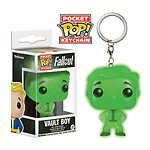 Fallout - Porte-clés Pocket POP! Vault Boy Glow In The Dark 4 cm