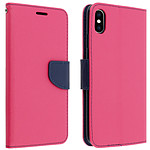 Avizar Etui folio Fuchsia Fancy Style pour Apple iPhone XS Max