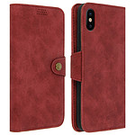 Avizar Etui folio Rouge Éco-cuir pour Apple iPhone X , Apple iPhone XS