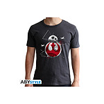 Star Wars - T-shirt BB8 E8 homme MC dark grey  - new fit - Taille XXL
