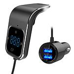 Avizar Transmetteur FM Noir pour Tous les appareils équipés de la fonction Bluetooth