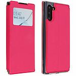 Avizar Etui folio Fuchsia Éco-cuir pour Samsung Galaxy Note 10