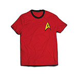 Star Trek - T-Shirt Ringer Engineer Uniform   - Taille XL
