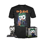 DC Comics -Set figurine et T-Shirt  POP! & Tee The Joker heo Exclusive - Taille S