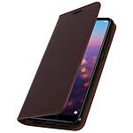 Avizar Etui folio Marron pour Huawei P20 Pro