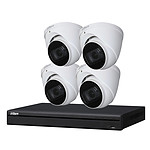 Dahua Kit de vidéosurveillance enregistreur + 4 caméras dôme - 1080p