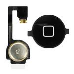 Avizar Bouton Home Complet avec nappe de connexion pour Apple iPhone 4 Noir