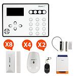 Atlantic'S ATEOS - Alarme de maison sans fil GSM Kit 6 (MD-326R)
