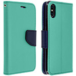 Avizar Etui folio Turquoise pour Apple iPhone X , Apple iPhone XS