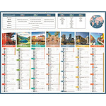 BOUCHUT Calendrier bancaire illustré année civile Planète 43 x 55 cm