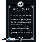 Death Note -  Poster Règles (52 X 38 Cm)