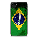 1001 Coques Coque silicone gel Apple IPhone 8 motif Drapeau Brésil