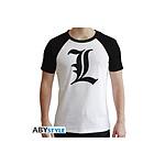 Death Note - T-shirt L Symbole homme MC blanc - premium - Taille L