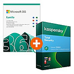 Pack Microsoft 365 Famille + Kaspersky Total Security - Licence 1 an - A télécharger