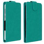 Avizar Etui à clapet Vert pour Compatibles avec Smartphones de 4,7 à 5,0 pouces