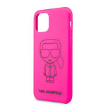 KARL LAGERFELD Coque pour iPhone 11 Pro Black Out Pink