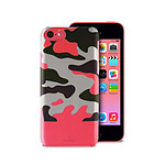 PURO  Coque soft touch CAMOU iPhone 5C  Rose