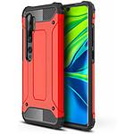 Lapinette Coque Anti Chocs pour Xiaomi Mi Note 10 Modèle Armor Rouge
