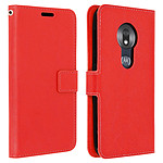 Avizar Etui folio Rouge pour Motorola Moto G7 Play