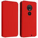 Avizar Etui folio Rouge pour Motorola Moto G7 , Motorola Moto G7 Plus