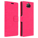 Avizar Etui folio Rose Éco-cuir pour Sony Xperia 10