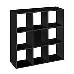 Bibliothèque 9 cases noir MT1 Elegance