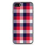 1001 Coques Coque silicone gel Apple IPhone 7 motif Tartan Tricolor