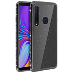 Avizar Coque Noir Design pailleté pour Samsung Galaxy A9 2018