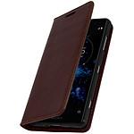 Avizar Etui folio Marron pour Sony Xperia XZ2 Compact