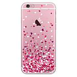 EVETANE Coque iPhone 6 Plus / 6S Plus rigide transparente Confettis De Coeur Dessin