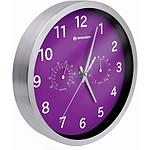 Bresser Horloge Murale 25cm Mytime Avec Température Et Humidité Couleur Violette BRE_8020310TJ5000