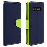 Avizar Etui folio Bleu Nuit Fancy Style pour Samsung Galaxy S10 Plus