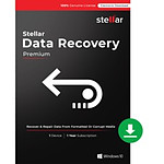 Stellar Data Recovery Premium - Licence 1 an - 1 poste - A télécharger
