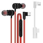 Avizar Ecouteurs Rouge pour Tous les appareils dotés d'un port USB-C
