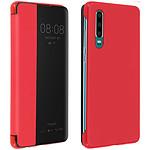 Avizar Etui folio Rouge à fenêtre pour Huawei P30