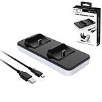 Subsonic - Station de recharge blanche pour 2 manettes Dual Sense PS5