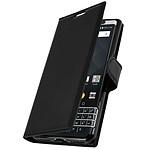 Avizar Etui folio Noir pour BlackBerry Keyone