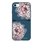 LA COQUE FRANCAISE Coque iPhone 7/8 Silicone Liquide Douce bleu marine Rose Pivoine