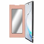 Avizar Etui folio Rose Champagne Miroir pour Samsung Galaxy Note 10