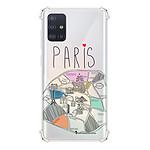 LA COQUE FRANCAISE Coque Samsung Galaxy A51 5G anti-choc souple angles renforcés transparente Plan de Paris